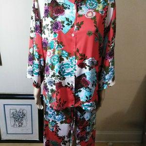 Natori, Asian inspired, top and bottom lingerie